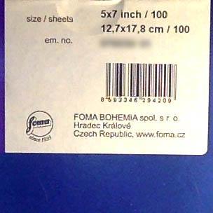 Fomaspeed Variant 312 Variable Contrast RC Paper - matt Finish - 12,7x17,8cm - 100 Sheets - 2
