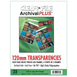 Clear File 120 Rollfilm Archival Plus 6x6cm Negative Preservers - 100 Pack