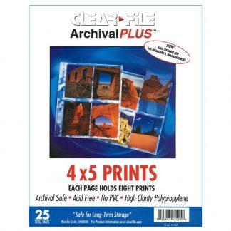 "Clear File 4x5"" Archival Plus Negative/Print Preservers - 25 Pack"