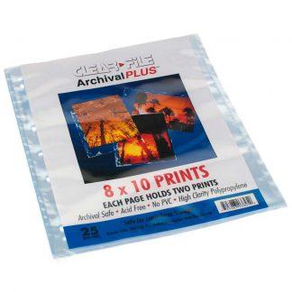 "Clear File 8x10""/20 x 25cm Archival Plus Negative/Print Preservers 2"